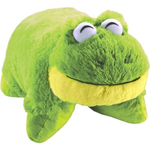 """Preisvergleich Produktbild Pillow Pets Pee Wees Friendly Frog 11"""" Comfy Cozy Chenille Smile (Green) - As Seen ON TV by Pillow Pets"""
