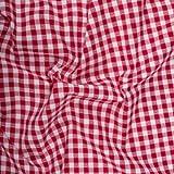 Vichy-Karo Trachten Herzen 10 mm - Rot-Weiss