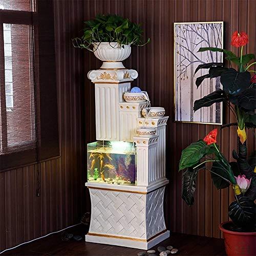 Anne Aquarium Wasserkaskade Römische Säule Säule Sockel Stehen hause zimmer büro Dekoration Innen Wasserspiel wasserlandschaft (Tropische Zimmer Dekor)
