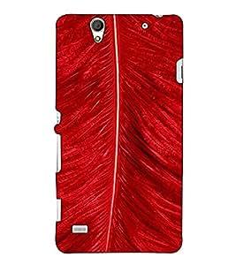 Fuson Designer Back Case Cover for Sony Xperia C4 Dual :: Sony Xperia C4 Dual E5333 E5343 E5363 (Red Feather theme)