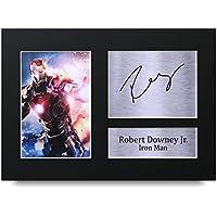 Robert Downey Jr Los Regalos Firmaron A4 la Dedicatoria Impresa The Avengers Iron Man La Foto de Impresión Imagina la Demostración
