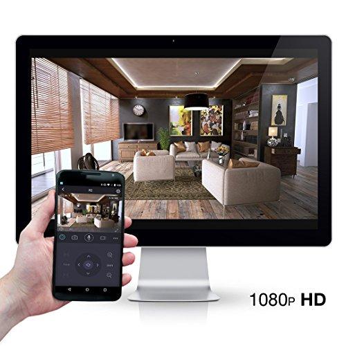 Foscam R2 (versione ITALIANA) – Telecamera IP Wi-Fi Full HD 1080p (2.0 Megapixel), Motorizzata PTZ con Zoom 6x, Visione notturna 8m, Motion Detection, E-mail Alert, microSD slot, ONVIF, P2P Plug & Play – NERO