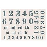 Creative Expressions Phill Martin Sentimental Ihre Sammlung A5 Schablone - Numerik