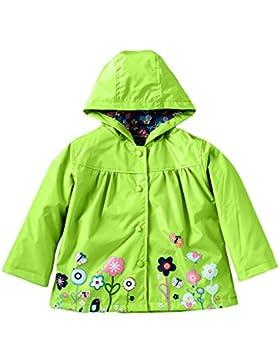 Meijunter Ragazze Bambini Flower Pattern Impermeabile Giacca da pioggia Outwear Poncho Raincoat con cappuccio...