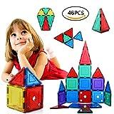 Blocchi Costruzioni Magnetiche per Bambini| 48 pezzi Giocattoli Educativi Kit Accatastamento Aggiornati per I Bambini Lasciate che il Vostro Bambino Imparare Colori e Forme Attraverso