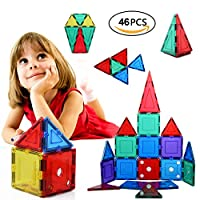 "Specifica dell'oggetto:   Materiale: plastica ABS + forte magnete   3 years old"">Età:> 3 anni   Piastrelle magnetiche Colori chiari: multipli - Invia per caso   Car Set for Beginner: 32 pezzi Includi   Le forme includono: Triangoli equilateri,..."