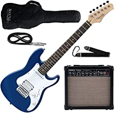 Rocktile Sphere Junior E-Gitarre 3/4 Blau SET inkl. Verstärker, Kabel und Gurt