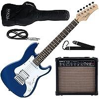 Rocktile Guitarra eléctrica Sphere Junior 3/4 azul (con amplificador, cable y correa)