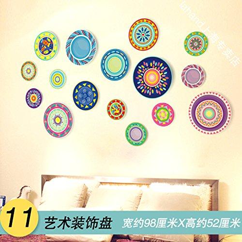 Wandaufkleber ALLDOLWEGE Kreative Schlafzimmer Kopfteil Schlafsaal Wand Hintergrund Zimmer Dekoration Tapeten selbstklebende Tapete, Art-Deco-Platte (Art-deco Wand-platten)