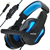 Accessory Power COMPUTER PC GAMING HEADSET BY ENHANCE - VOLTAIC PRO USB HEADPHONES WITH 7.1 SURR Nero, Blu Circumaurale Padiglione auricolare cuffia