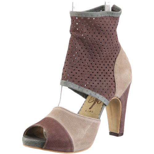 Fly London FULT P141874, Damen, Pumps, Braun  (red plum/sludge/deep grey 000), EU 41