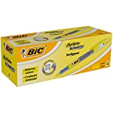 BIC Highlighter Technolight Surligneurs Pointe Biseautée - Jaune, Boîte de 12