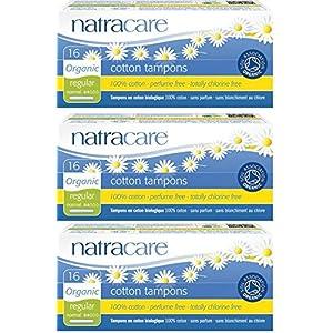 Natracare Bio-Tampons Regular, ohne Applikator, 3Packungen