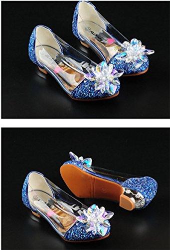OPSUN Chuaussures princesse Enfants Filles Ballerines à bride Chaussure Cérémonie Mariage Escarpin Babies Bleu