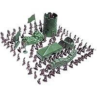 100pcs Juguetes Juegos Niños Militares Combate Ejército Soldado Establece 3cm