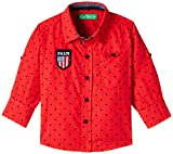 Palm Tree Baby Boys' Shirt (131010360656 1320_Cherry red-1320_9-12 Months)