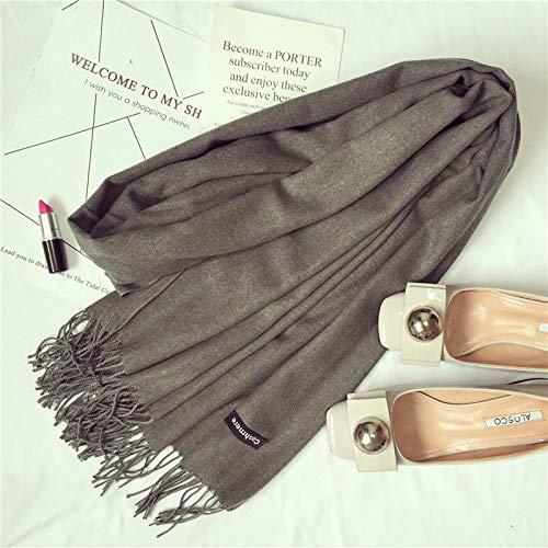 Hmeili Schals Herbst Winter Monochrome Rayon Quaste Schal Klassischen Süßigkeiten Farbe Mode Quaste Schal Dual-Use-Paar Modelle -