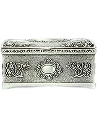 Caja de pulseras - TOOGOO(R)caja de sostenedor de almacenamiento de pulsera collar joyeria de plata negra de vendimia