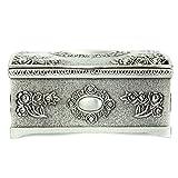 Boite a bijoux - TOOGOO(R)Vintage Noir Argent Boite de rangement de bijoux Organisateur de collier bracelet