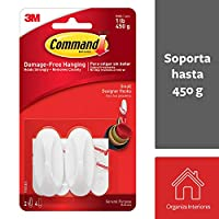 Command Small Hooks with Strips (17082)-white