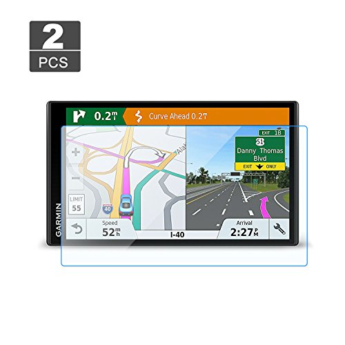 [2 Stück] Panzerglas Schutzfolie für Garmin DriveSmart 61 LMT-S LMT-D 61LMT-D 61LMT-S / Garmin RV 770 LMT-S - LFOTPP 9H Kratzfest Anti-Fingerprint Displayschutzfolie GPS Navi Folie Transparent