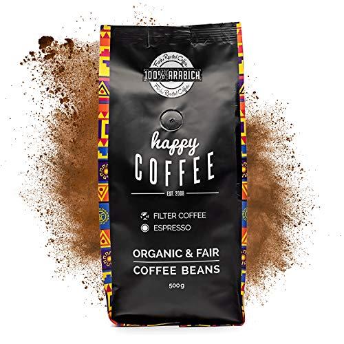 HAPPY COFFEE Bio Kaffee gemahlen 500g [Chiapas] I Frischer fair-trade Kaffee direkt aus Mexiko I Arabica Kaffee I Filterkaffee ideal für French Press, Filterkaffeemaschinen und Vollautomaten