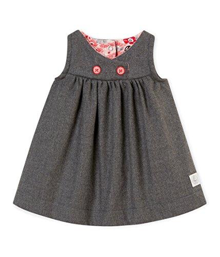Petit Bateau Baby-Mädchen Kleid Robe SM_4404101, Grau (Subway Chine 01), 80 (Herstellergröße: 12M/74cm)