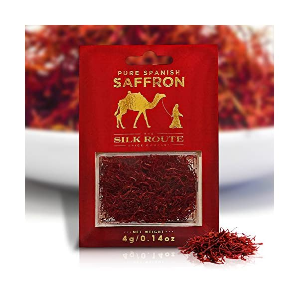 Silk Route Spice Company Saffron (4g) High Quality Grade A Spanish Saffron Threads 2