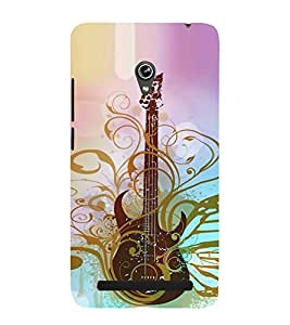 Fiobs Designer Back Case Cover for Asus Zenfone 6 A600CG (Guitar Romantic Music Cool Boy )