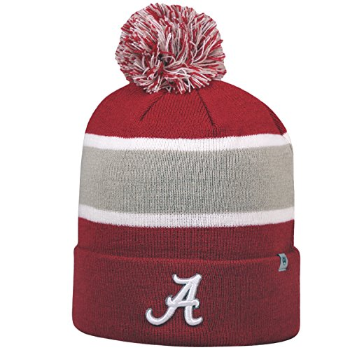 Top of the World beidseitigen Whirl Beanie mit Pom Pom - NCAA Cuffed Knit Cap, Unisex, Alabama Crimson Tide (Ncaa Beanies Mit Pom)