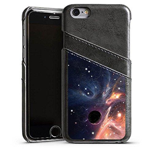 Apple iPhone 6 Housse Étui Silicone Coque Protection Espace Galaxie Motif Étui en cuir gris