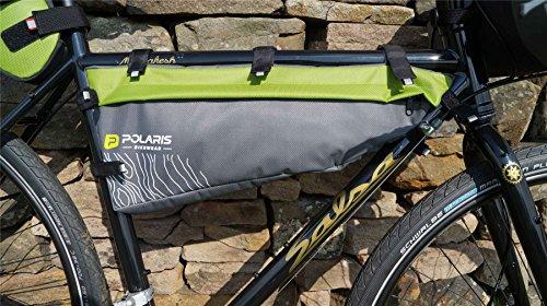 Polaris Tasche Ventura Rahmen Mid, grün 5Liter bikepacking Gepäck -