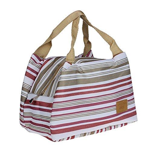 Sac à Déjeuner Sac Fraîcheur Portable Isotherme tirette Sacs de courses et cabas Lunch Bag, 8.3*5.5*6.3\\