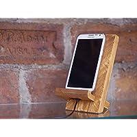 Wooden phone stand, handmade dock station, Android stand, iPhone stand, docking station, phone charging station, unique gift for men, birthday gift for boyfriend, Christmas gift