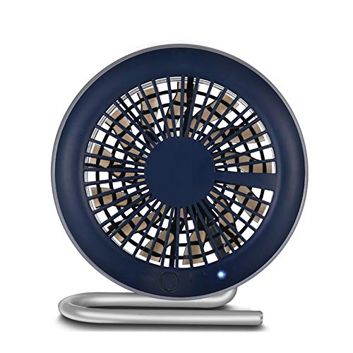 HYH USB Mini Fan Kreative Persönlichkeit Sommer Magnetische Halterung Desktop Tragbare Tragbare Schlafzimmer Student Lade Fan 13 Fan Blatt Ultra Leise Schönes Leben (Farbe : Black) -