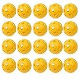 Pixnor Balles de golf Flux d'air Creux Golf balles plastique Golf practice ball 20pcs...