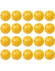 Pixnor Balles de golf Flux d'air Creux Golf balles plastique Golf practice ball 20pcs