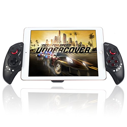 Bluetooth Controller Stoga PG9023 Wireless Teleskop-Bluetooth-Controller Joystick Gamepad für Android iPad Samsung iOS Tablet PC - Schwarz
