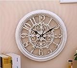 Orologio da parete moderno moderno orologio da parete orologio orologio tranquillo orologio da parete orologio moda semplice salotto cucina ristorante orologio camera da letto , Bianca