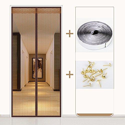 Efgufhc porta zanzariera magnetica silenziosa, setaccio a maglie pesanti full frame velcro porta sullo schermo magnetico, non più le zanzare o insetti-a 130x200cm(51x79inch)