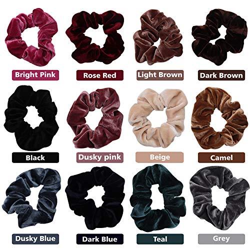 Kurtzy elastici per capelli (12 pezzi) - assortiti colorati elastici velluto