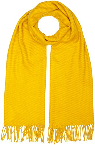 PIECES, Unisex Schal KIAL LONG SCARF NOOS, Gelb(Nugget Gold), One size