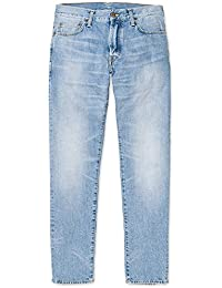 CARHARTT WIP - Jean - Homme - Jeans Tapered Fit Klondike Edgewood Bleu Clair Délavé pour homme