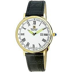 Reloj Steinhausen Altdorf Collection S0123 (correa de cuero dorado / negro / esfera blanca)
