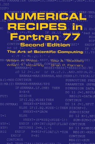 Numerical Recipes in FORTRAN 77: Volume 1, Volume 1 of Fortran Numerical Recipes: The Art of Scientific Computing: Fortran Numerical Recipes v. 1