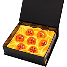 Vococal DragonBall Dragón Bolas [7PCS], DragonBall Z Bolas de Dragón 1 a 7 Estrellas con Caja de Regalo Coleccionar o Regalar para Niños/AFicionado al Anime,Diámetro 3,5CM (Naranja) (35mm)