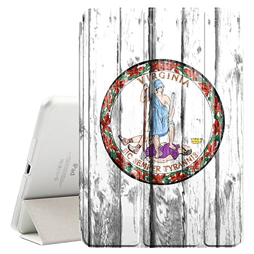FJCases Virginia Siegel The Old Dominion State Holzmuster Flagge Smart Cover Tablet-Schutzhülle Hülle Tasche + Auto aufwachen/Schlaf Funktion für Apple iPad Mini 5 Old Virginia Mini