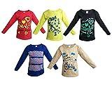 Jisha Fashion Girls Full Sleeves Cotton T-Shirt, 12-18 Months(Assorted,DEEKSHA)- Pack of 5