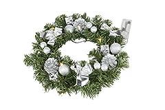 Idea Regalo - Best Season Corona di abete, circa 30cm,10LED a luce bianca calda, Plastica, Verde, 30x 30x 9cm