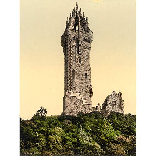 Wallace Monument Stirling Photomechrome Art Print Canvas Premium Wall Decor Poster Mural Wand Fotografieren Wand Deko Wallace Master